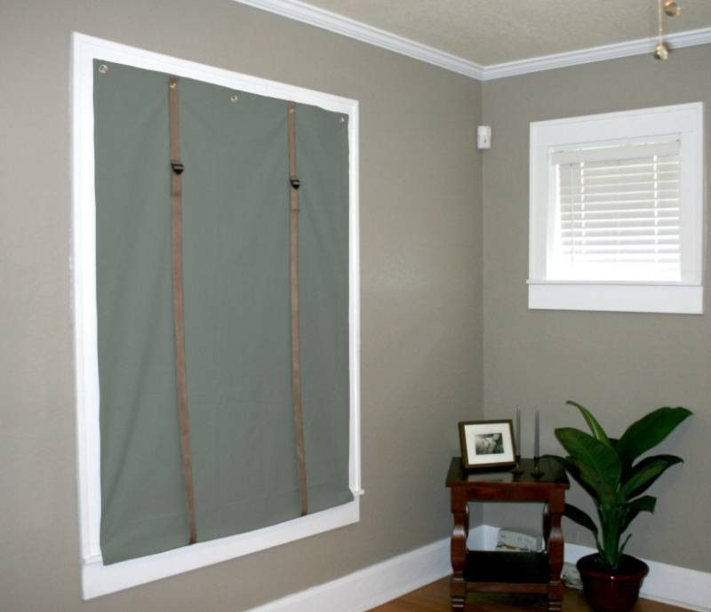 soundproof curtain over window