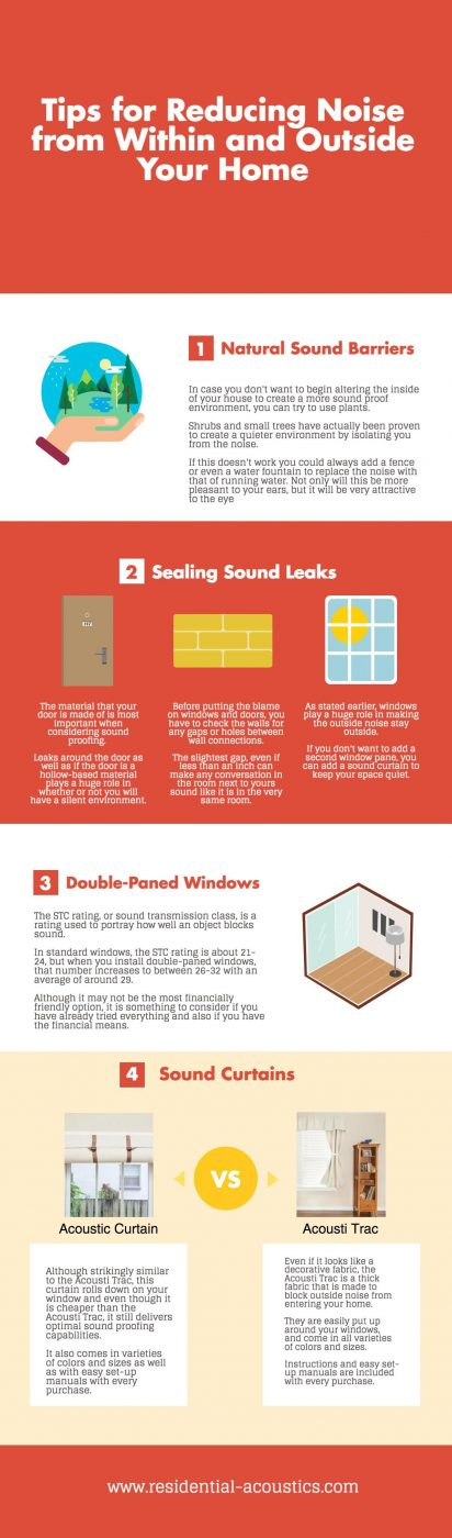 Reduce street noise through your window - Infographic chart