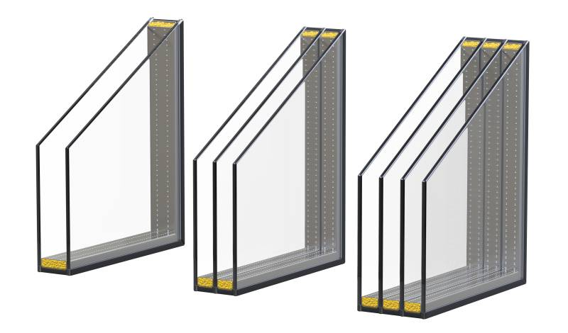triple pane soundproof window