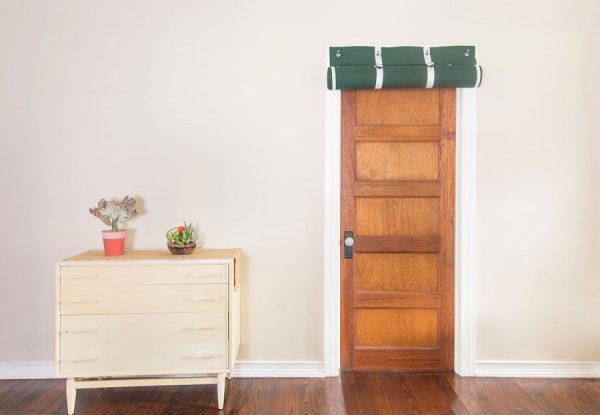 Residential Acoustics, AcoustiDoor Soundproofing Door Panel Rolled over Standard Size Door