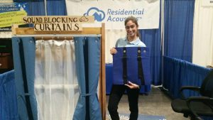 Soundproof Curtain Demo at Home and Garden Show