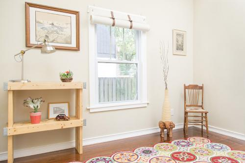 Blackout Noise Reducing Curtain Rolled Up Over Window - Residential Acoustics